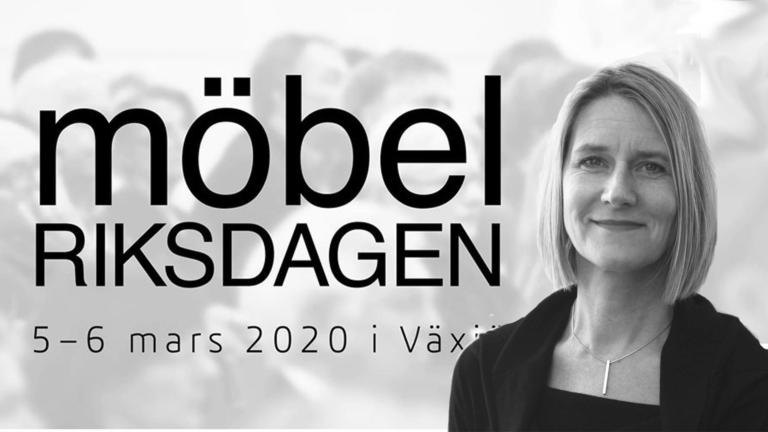 Ingrid Backman på väg till eventet Möbelriksdagen 2020